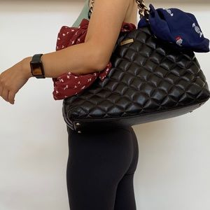 Kate Spade Black Quilted Handbag
